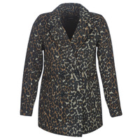 Clothing Women Coats Vero Moda VMCOCOLEOPARD Brown