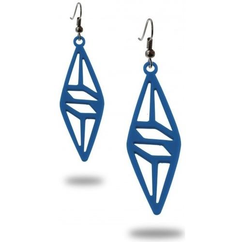 Watches & Jewellery  Women Earrings Blue Pearls LAD 0326 Blue