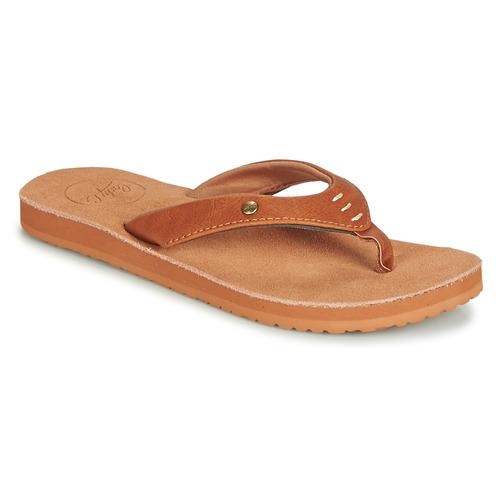 Shoes Women Flip flops Cool shoe COASTAL Cognac