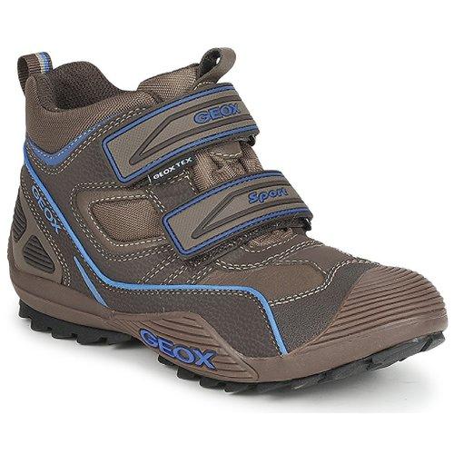 Shoes Boy Hi top trainers Geox SAVAGE Brown / Royal