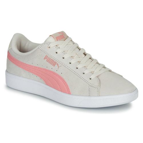 Shoes Women Low top trainers Puma VIKKY Beige