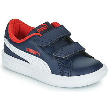 Shoes Boy Low top trainers Puma SMASH V2 L V Marine