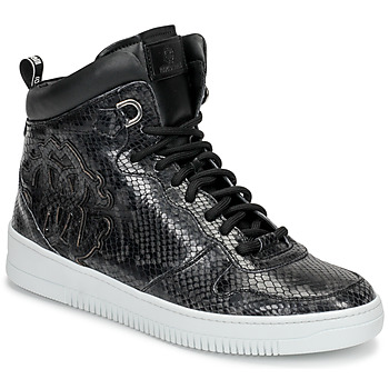 Shoes Men Hi top trainers Roberto Cavalli 8343 Black