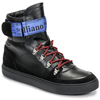Shoes Men Hi top trainers John Galliano 8526 Black