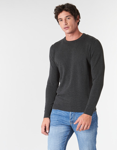Clothing Men jumpers Jack & Jones JJEBASIC Grey