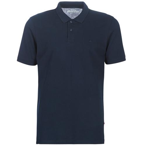 Clothing Men short-sleeved polo shirts Jack & Jones JJEBASIC Marine