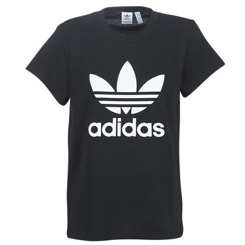 Clothing Women short-sleeved t-shirts adidas Originals BOYFRIEND TEE Black