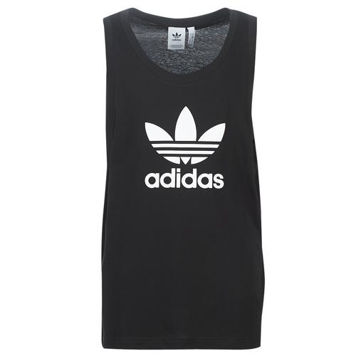 Clothing Men Tops / Sleeveless T-shirts adidas Originals TREFOIL TANK Black