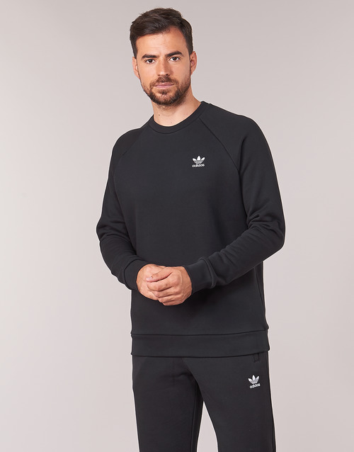 Clothing Men sweaters adidas Originals ESSENTIAL CREW Black