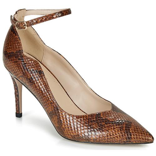 Shoes Women Heels André LIDOO Brown