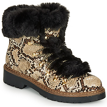 Shoes Women Ankle boots André TABULAE Brown / White