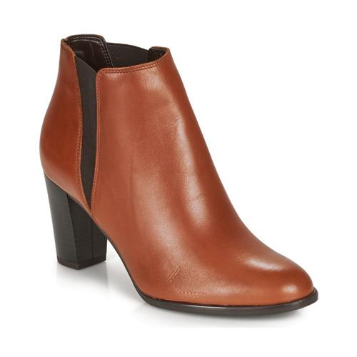 Shoes Women Ankle boots André ELONA Cognac