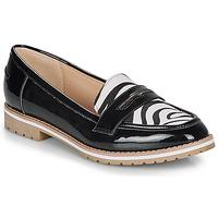 Shoes Women Loafers André PORTLAND Black / Motif