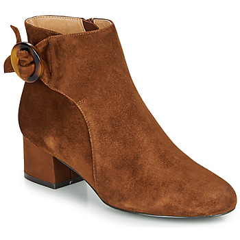 Shoes Women Ankle boots André LOUISON Cognac