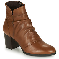 Shoes Women Ankle boots André EBENE Brown