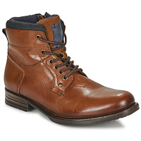 Shoes Men Mid boots André CLABA Cognac