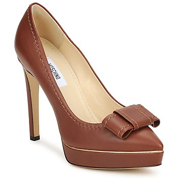Shoes Women Heels Moschino MA1009 Tobacco