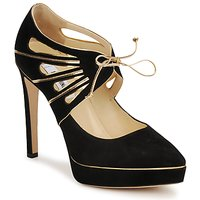 Shoes Women Heels Moschino MA1004 Black gold