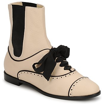 Shoes Women Mid boots Moschino MA2103 Pink / Powder / Black