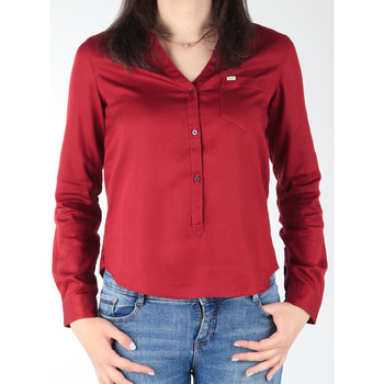 Clothing Women Shirts Lee L47QLCPR burgundy