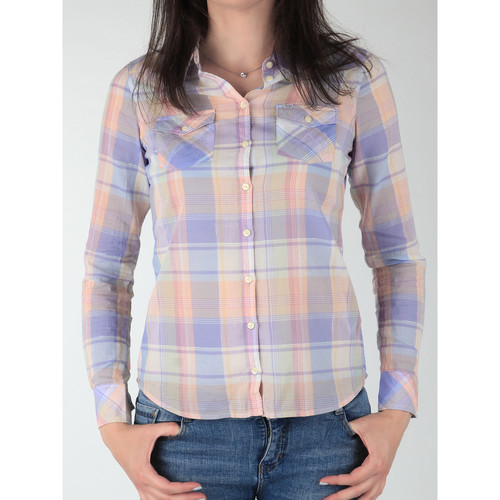 Clothing Women Shirts Wrangler Western Shirt W5045BNSF Multicolor