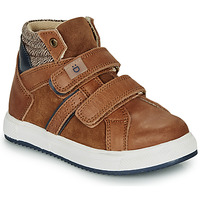 Shoes Boy Hi top trainers André TIMOTHE Brown