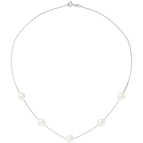 Watches Women Necklaces Blue Pearls BPS K037 W - OB White