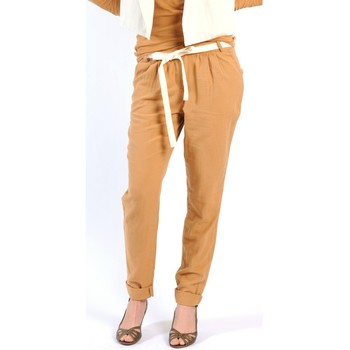 Clothing Women Wide leg / Harem trousers American Vintage PANTALON LEA139 CUMIN Yellow