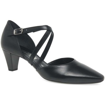 Shoes Women Heels Gabor Callow Womens Modern Cross Strap Court Shoes black