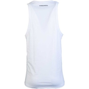 Clothing Men Tops / Sleeveless T-shirts Dsquared Vest T Shirt D9D202290 white