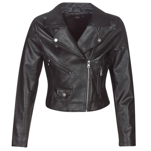 Clothing Women Leather jackets / Imitation leather Only ONLENYA Black
