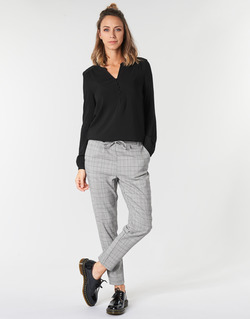 Clothing Women chinos Only ONLPOPTRASH Black / White