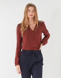 Clothing Women Tops / Blouses Only ONLEDDIE Bordeaux