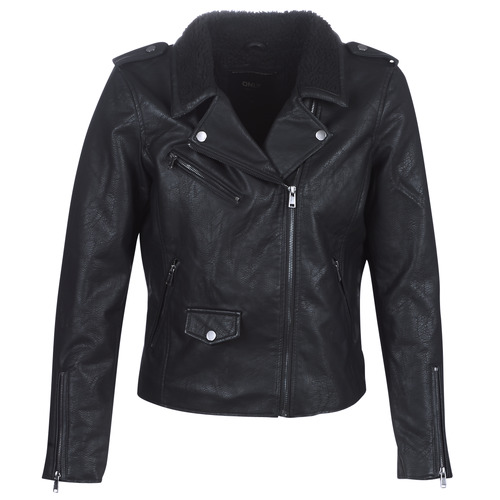 Clothing Women Leather jackets / Imitation leather Only ONLTAYLOR Black