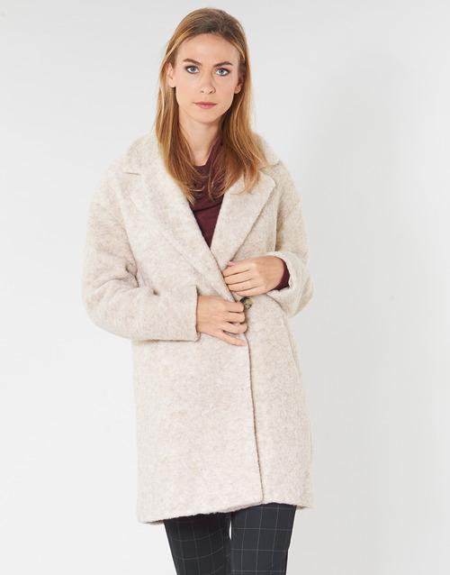 Clothing Women coats Only ONLNINA Beige