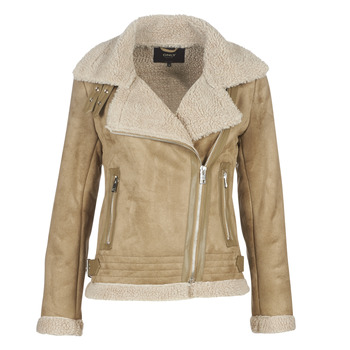 Clothing Women Leather jackets / Imitation leather Only ONLMADDIE Beige