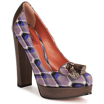 Shoes Women Heels Missoni RASHEL Purple / Brown