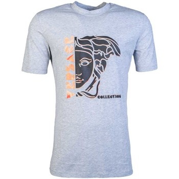 Clothing Men short-sleeved t-shirts Versace T Shirt V800862D VJ00601 grey