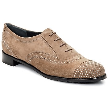 Shoes Women Brogues Stuart Weitzman DERBY Beige