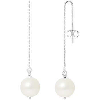Watches & Jewellery  Women Earrings Blue Pearls BPS K395 W - OB White