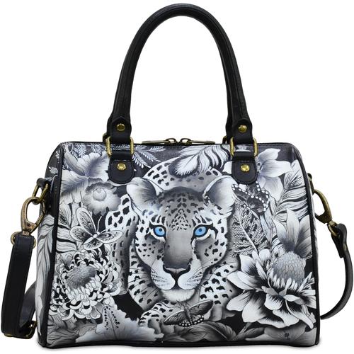 Bags Women Handbags Anuschka 625 Cleopatra's Leopard -Hand Painted Leather Multicolour
