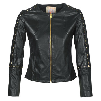 Clothing Women Leather jackets / Imitation leather Moony Mood LIRTO Black