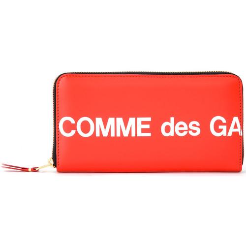 Bags Women Wallets Comme Des Garcons Huge Wallet Logo zip around in red Red