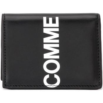 Bags Men Wallets Comme Des Garcons Huge Logo wallet in black leather Black