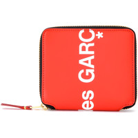 Bags Women Wallets Comme Des Garcons Wallet Huge Logo in red leather Red