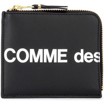 Bags Women Wallets Comme Des Garcons Huge Wallet Logo in black leather Black