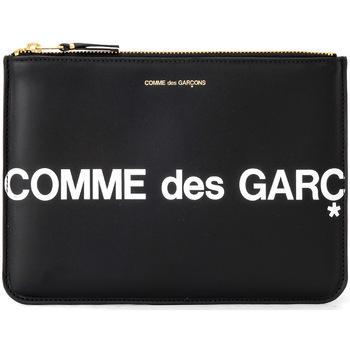Bags Women Wallets Comme Des Garcons Comme Des Garçons Sachet Wallet Huge Logo in black leather Black