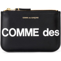 Bags Women Purses Comme Des Garcons Comme Des Garçons Sachet Wallet Huge Logo in black leather Black
