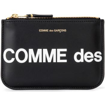 Bags Women Purses Comme Des Garcons Huge Logo Sachet in black leather Black