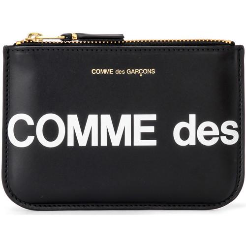 Bags Women Purses Comme Des Garcons Comme Des Garçons Sachet Wallet Huge Logo in black leather Black